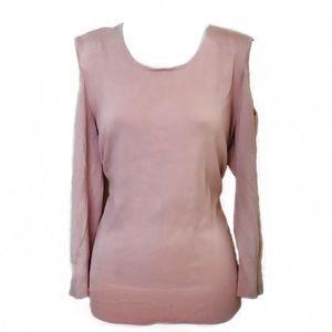 Women's Plus XXL Light Pink Off The Shoulder Shirt